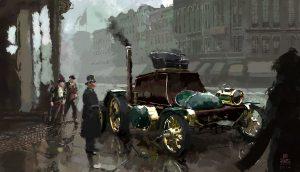 Coche a vapor en la literatura steampunk